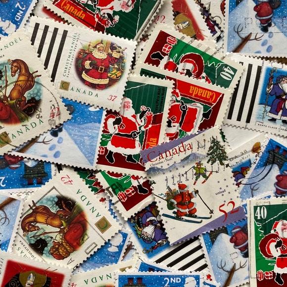 100+ Santa Claus postage stamps